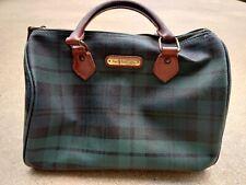 Vintage Polo Ralph Lauren Plaid Green Blue Boston Bag Purse Satchel