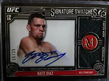 2016 Topps UFC Museum Collection Nate Diaz Signature Swatches 2Relic Auto #15/25