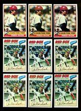 1976 & 1977 TOPPS CARLTON FISK BASEBALL LOT OF 9 NM *232370