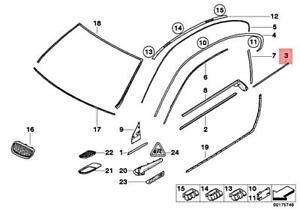 For BMW Genuine Body Trim Molding Rear Right 51378036660