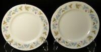 """Fine China of Japan Vintage Salad Plates 7 3/4"""" 6701 Ivy Set of 2 Excellent"""