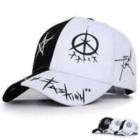 Women Men Scrawl Print Baseball Cap Cotton Adjustable Snapback Hats Summer Caps