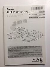 Canon Selphy CP710 / CP510 User Guide instructions in English, Espanol, Francais