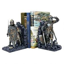Chivalrous Medieval King Arthur's Knights Book Ends Gothic Bookends Pair