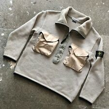 AMAZING 90s Stone Island jumper/sweater/smock jacket - green edge era - M L XL