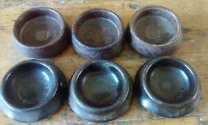 6 vintage/antique  ...bakelite  CHAIR CASTOR CUPS