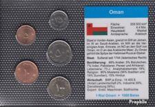 Oman fleur de coin set de pieces 5 Baisa jusqu'à ce que 100 Baisa