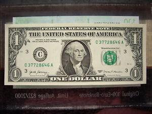 1 US Dollar USA USD ONE Amerika $ 2017  kassenfrisch echt Note Banknote cash
