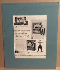 RCA Victor Television Radio Original Vintage Print Advertisement Matted