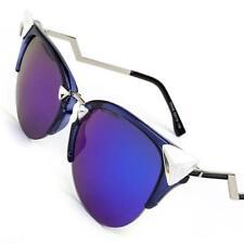 Iridia Mirrored Lenses Brand New Women Sunglasses Designer Cat Eye Retro Vintage
