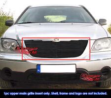 Fits 2004-2006 Chrysler Pacifica Black Main Upper Billet Grille Insert