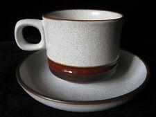 Denby Pottery Potters WHEEL ruggine Coppa & Piattino-più disponibile! - Marrone Beige