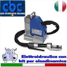 Curvatubi elettroidraulica e kit per oleodinamica con valigetta metallica 7 f...