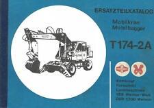 Ersatzteilliste Ersatzteilkatalog Mobilkran Mobilbagger T 174-2A 174 Weimar DDR