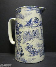 Heron Cross Pottery ROMANCE (BLUE) Chintz English 2 Pint Milk Jug