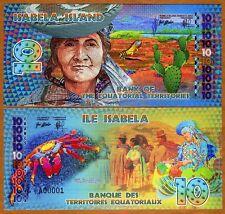 Equatorial Territories, Isabela Island, Ecuador, 10 E Francs POLYMER 2014, UNC