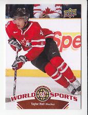 TAYLOR HALL Team Canada Hockey 2010 UPPER DECK WORLD OF SPORTS CARD # 191