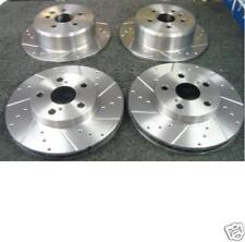 HONDA ACCORD 2.0VTEC 2.2-i-CTDi BRAKE DISC CROSS DRILLED GROOVED FRONT REAR