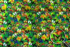 Fabric Sheet Monarch Butterfly Pattern Lenticular 3D #SH-R210#
