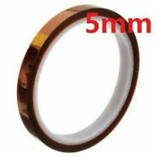 5mm 100ft Bga High Temperature Heat Resistant Polyimide Kapton Tape Gold