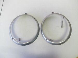 NOS Porsche 356 Headlight Ring Pair (#1)