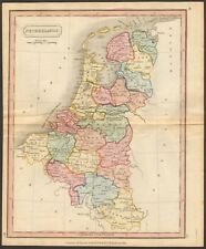 1815 ca ANTIQUE MAP - HAND COLOURED - NETHERLANDS