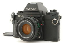 EXC CANON F1 black + New FD 50mm f/2 SLR 35mm film camera from Japan
