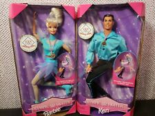 1998 Us Olympic Skater Barbie & Ken Doll Set Mattel Mint Nrfb