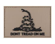 Don't Tread on Me Pvc Gadsden Coyote & Black Hook & Loop Morale Tags Patch
