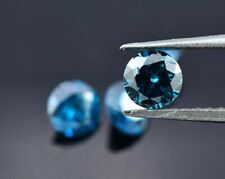 5 Blue Natural Diamond Loose Faceted Rounds 1.8mm each