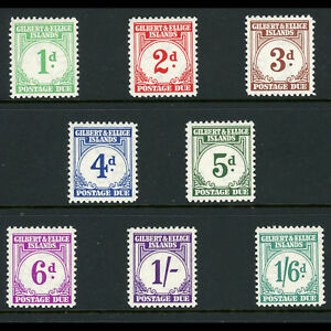 GILBERT & ELLICE Is 1940 Postage Due. SG D1-D8. Lightly Hinged Mint. (BH509)