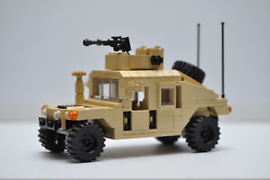 Military HMMWV Hummer Truck Army Tank Tan Model Built with Real LEGO