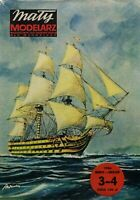 "GENUINE PAPER-CARD MODEL KIT- H.M.S. ""VICTORY"""