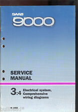 M 1989 SAAB 9000 / 3:4 ELECTRICAL SYSTEM WIRING DIAGRAM SERVICE MANUAL