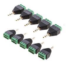 Set De 10 Pcs 3.5mm 3 Pôle Stéréo Audio Vedio Mâle à 3 Bornes à Vis
