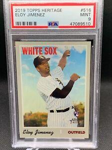 2019 Topps Heritage Eloy Jimenez Rookie Card White Sox PSA 9 Mint