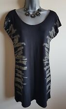 Size 10 Top Black Brown MODA GEORGE Excellent Condition Women's Casual Tunic
