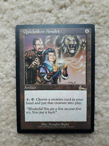 MTG Quicksilver Amulet > NM/Mint Magic the Gathering > Urza's Legacy