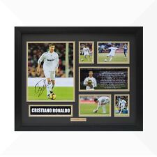 Cristiano Ronaldo Signed & Framed Memorabilia - Black/Gold - Limited Edition