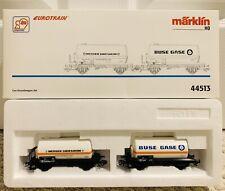 MARKLIN HO 44513 GAS TANK CAR SET BUSE GASE MESSER GRIESHEIM - BRAND NEW