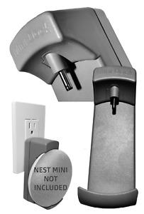 Google NEST (2ND GEN) Mini Wall Mount MiniDock Cord-Free Power Supply by TecScan