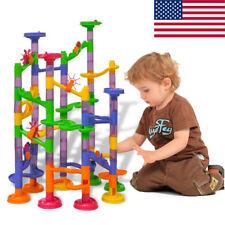 105 pcs Kids Marble Run Race Set Railway Building Blocks Construction Track Toy