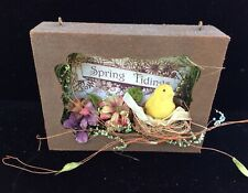 tin spring box decoration Midwest of cannon falls Easter old store stock