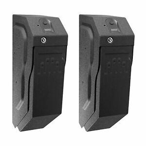 GunVault SpeedVault Series Quick Access Biometric Handgun Safe, Black (2 Pack)