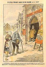 """POLITIQUE RELIGION """" RECONVERSION DES EGLISES """" DESSIN DE LEMOT 1905"""