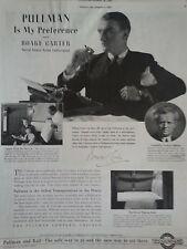 1937 Pullman Railway Radio Boake Carter World Transportation Cigarette Print Ad