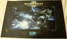 Blizzcon 2015 StarCraft II 2 - Legacy of the Void Signed Souvenir Poster