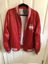 Red Golden Corral Steak House Anniversary Jacket Snap Vintage Style