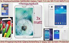 """3x matt Antireflex Display Schutz Folie Samsung Galaxy Tab 3 Lite 7.0"""" Kratzfest"""