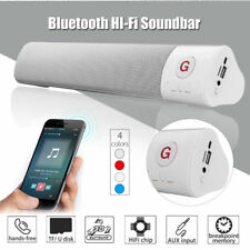 CASSA SPEAKER PORTATILE BLUETOOTH 10W FM STEREO ALTOPARLANTE SOUNDBAR USB AUX SD